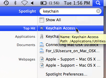 keychain access command.