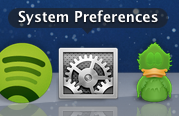 System Preferences on the Dock