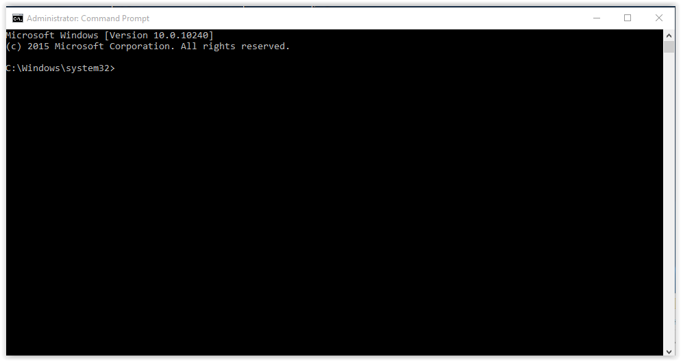 Command Prompt window running with administrator privileges.