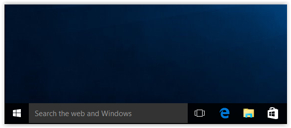 Start menu button of windows 10