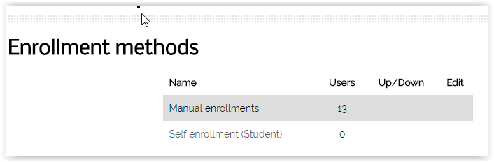 Enrollment methods page