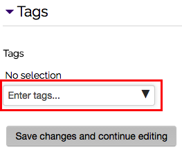 Tags options