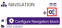 Configure icon and configure block option