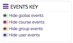 The Events Key block