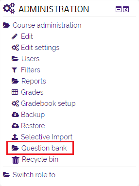 question bank option