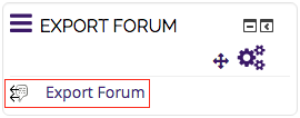 Export Forum option