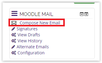 Compose new email in Moodle Mail