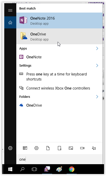 opening microsoft one drive