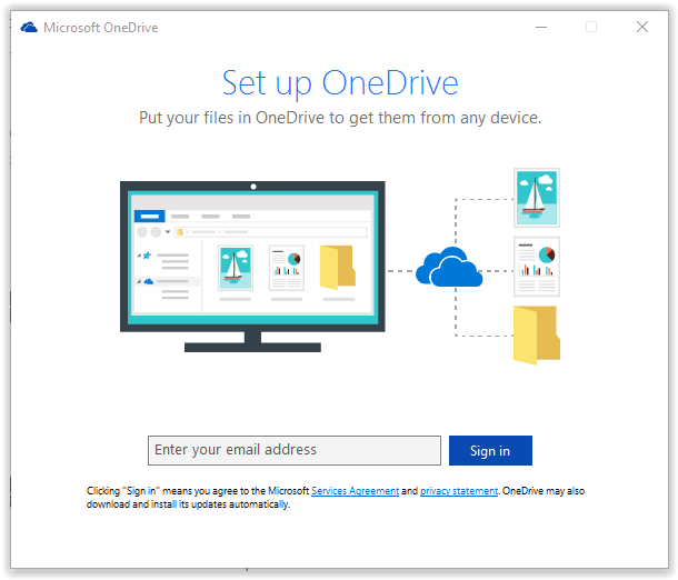 entering your work or school account,into onedrive setup