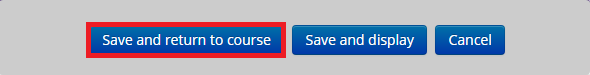 Save and display button