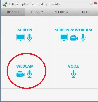 capturespace record webcam button