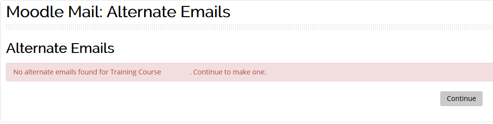 alternate email screen