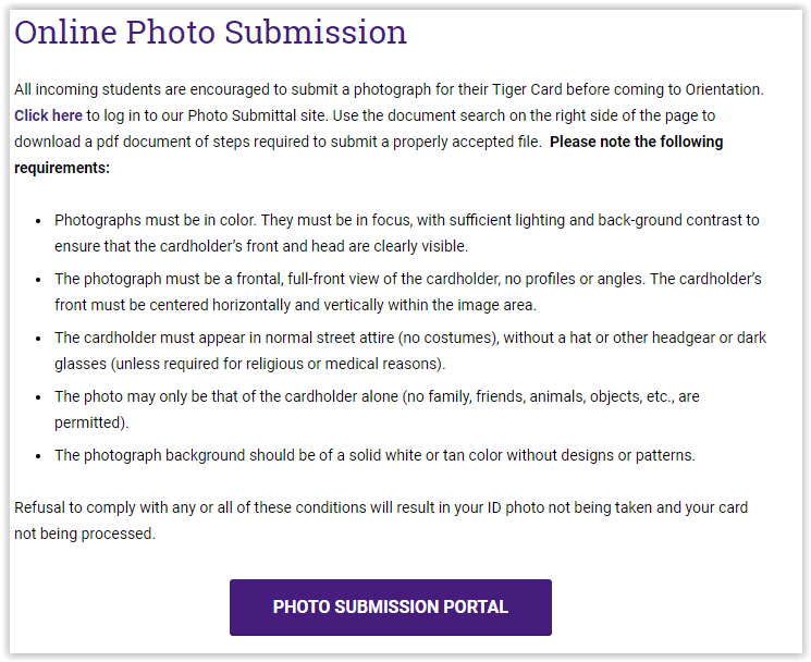 opening the lsu photo portal