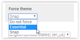 changing the force theme of a moodle course