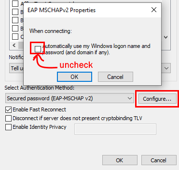 Clicking configure button at bottom of window, then uncheck the box